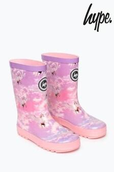 Hype. Pink Unicorn Girls Wellies