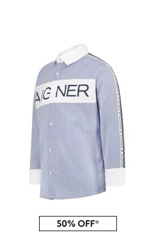 Aigner Boys Blue Cotton Shirt
