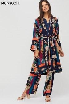 Monsoon Blue Paloma Printed Kimono