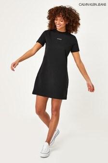 Calvin Klein Jeans Black Micro T-Shirt Dress