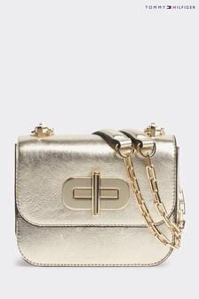 Tommy Hilfiger Gold Turnlock Mini Bag