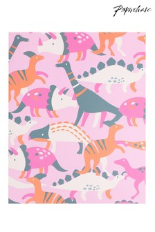 Paperchase Pink Dino Lined Notebook