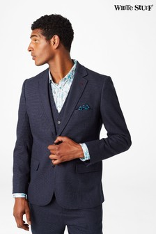 White Stuff Blue Davide Semi-Plain Blazer