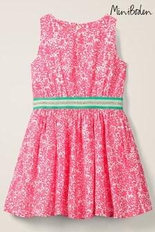 Boden Pink Waistband Woven Dress