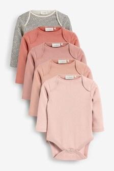5 Pack Essential Long Sleeve Bodysuits (0mths-3yrs)