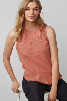 Sleeveless Sparkle Shell Top