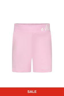 Monnalisa Girls Pink Cotton Shorts