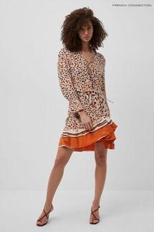 French Connection Orange Ellie Mix Dress
