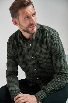 Gingham Long Sleeve Regular Fit Shirt