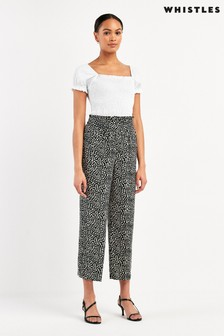 Whistles Spotted Animal Print Trousers