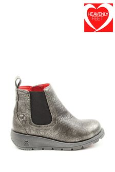 Heavenly Feet Pewter Junior Girls Ankle Boots