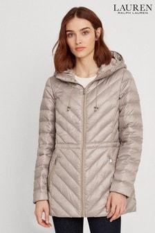 Lauren Ralph Lauren® Beige Down Quilted Jacket