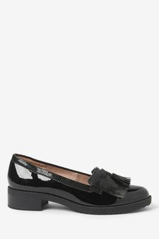 Cleated Fringe Loafers