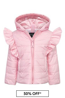 Baby Girls Pink Cotton Jacket