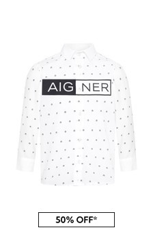 Aigner Boys White Cotton Shirt