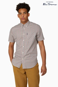Ben Sherman Red Short Sleeve Signature House Check Shirt
