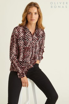 Oliver Bonas Zebra Button Through Shirt