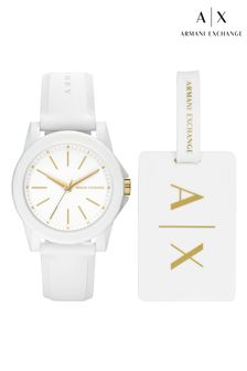 Armani Exchange Ladybanks Watch And Luggage Tag Gift Set