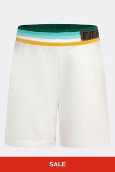 Fendi Kids Cotton Shorts