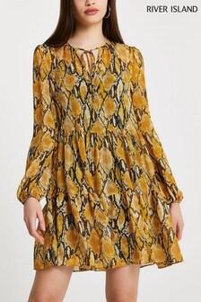 River Island Yellow Smock Dress
