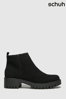 Schuh Black Ava Cleated Sole Boots