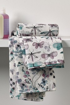 2 Pack Floral Butterfly Organic Cotton Muslin Blankets