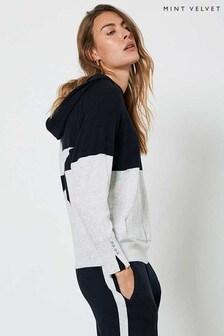 Mint Velvet Navy & Grey Star Knit Hoody