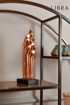 Libra Family Gathering Sculpture in Rose Gold