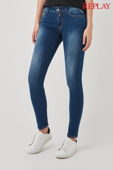 Replay Washed Blue Skinny Leg Jeans
