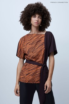 French Connection Rosalind Asymmetric Neck Top