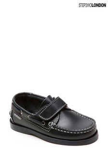 Step2wo Blue Starboard Boat Shoes
