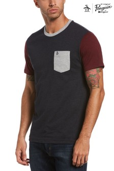 Original Penguin® Blue Colourblock Ringer T-Shirt