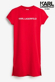 Karl Lagerfeld Kids Red Text Dress