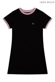Jack Wills Girls Black Ringer Tee Dress