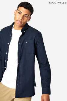 Jack Wills Navy Wadsworth Oxford Shirt