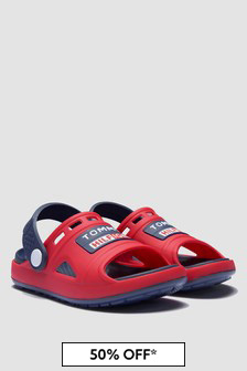 Tommy Hilfiger Boys Red Sandals
