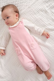 Quilted Velour Dungarees And Bodysuit (0mths-2yrs)