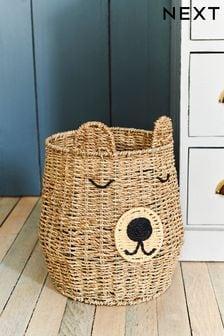 Woven Bear Storage Basket
