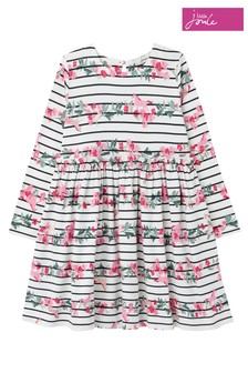 Joules White Hampton Paperbag Waist Dress