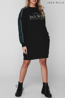 Jack Wills Black Elin Sweater Dress