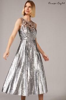 Phase Eight Lainey Shimmer Sequin Midi Dress