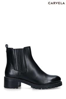 Carvela Black Treaty Chelsea Boots