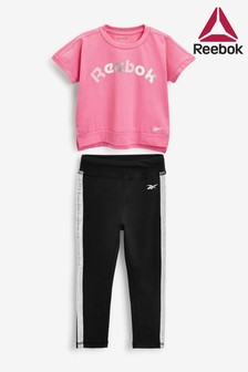 Reebok Infant Pink T-Shirt And Legging Set