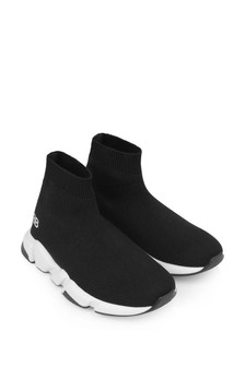 Kids Black & White Speed Trainers