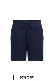 Baby Boys Navy Cotton Shorts