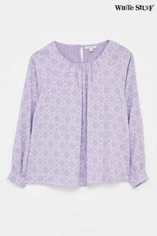 White Stuff Purple Maia Top