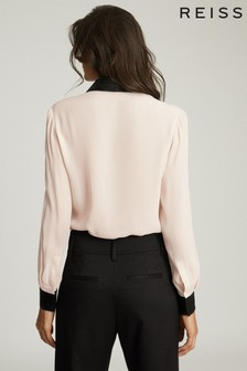 Reiss White Delaney Sequin Collar Shirt