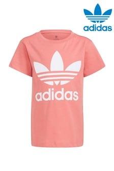 adidas Originals Little Kids Pink Trefoil T-Shirt