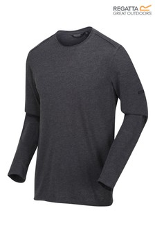 Regatta Black Karter II Long Sleeve T-Shirt