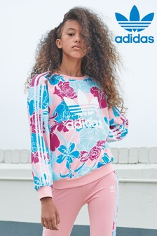 adidas Originals Floral Printed Crew Sweater